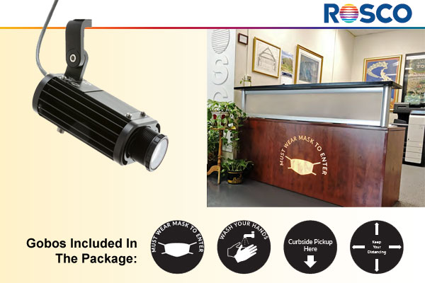 Image Spot Mini Projector Health Gobo package from ROSCO